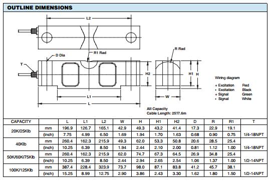 美国CeltronCLB-50KLB产品尺寸图