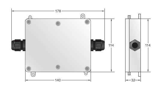 美国TranscellC&V放大器产品尺寸: