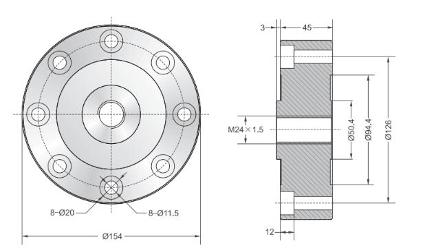 美国Transcell DBSL-XS传感器产品尺寸图