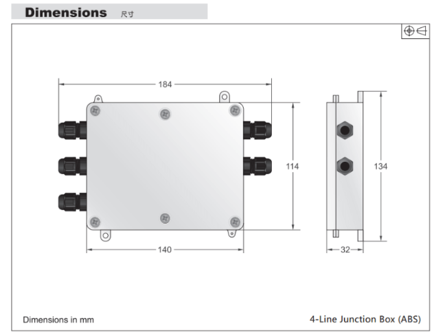 J-BOX接线盒产品尺寸