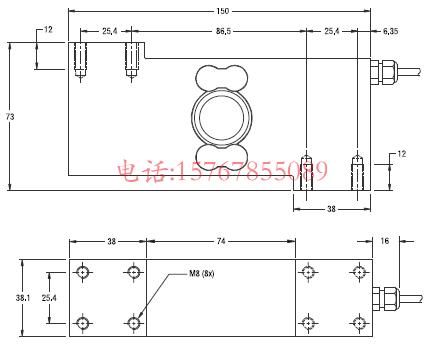 富林泰克PC7-250kg-C3产品尺寸图