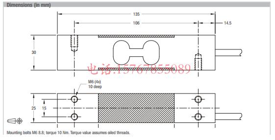 富林泰克PC30-15Kg-C3产品尺寸图