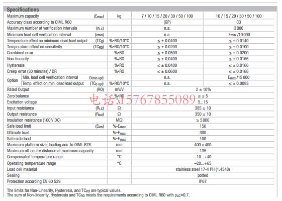 富林泰克PC30-15Kg-C3产品参数图