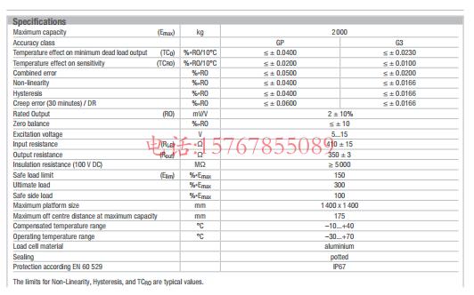 富林泰克PC80-2000Kg-C3产品参数图
