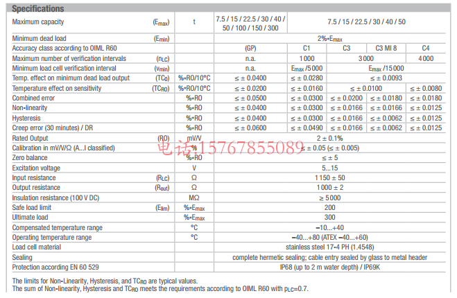 RC3-40t-C3产品技术参数
