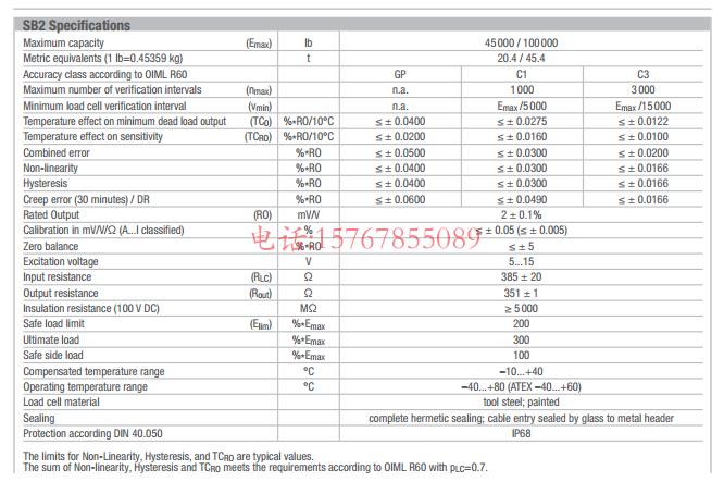 SB2-45000lb-C3产品参数图: