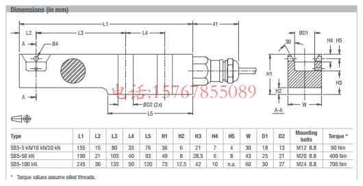富林泰克SB5产品尺寸图