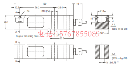 富林泰克SB9-250Kg-C3产品尺寸图:
