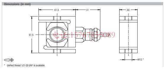 富林泰克UB6-5KN-C3产品尺寸图