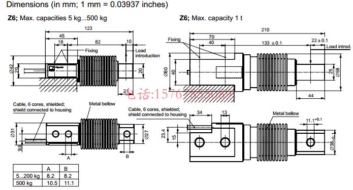 Z6FD1/50Kg产品尺寸图