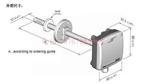 EE85温湿度变送器产品尺寸图