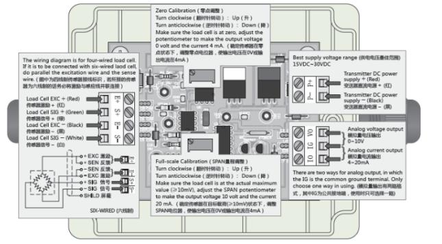美国Transcell C&V放大器的接线方式: