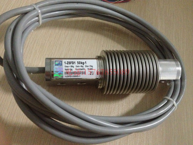 1-Z6FD1/50Kg-1称重传感器实拍标签图