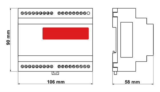 SCT-1100变送器/控制器结构图: