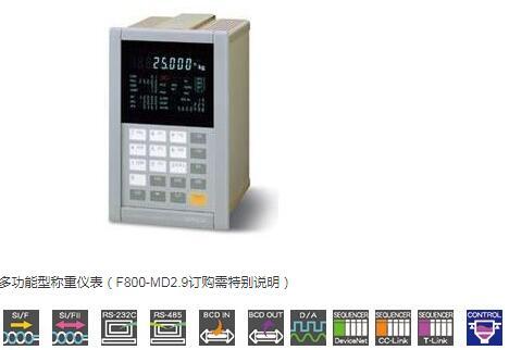 F800多功能型称重仪表-UNIPULSE