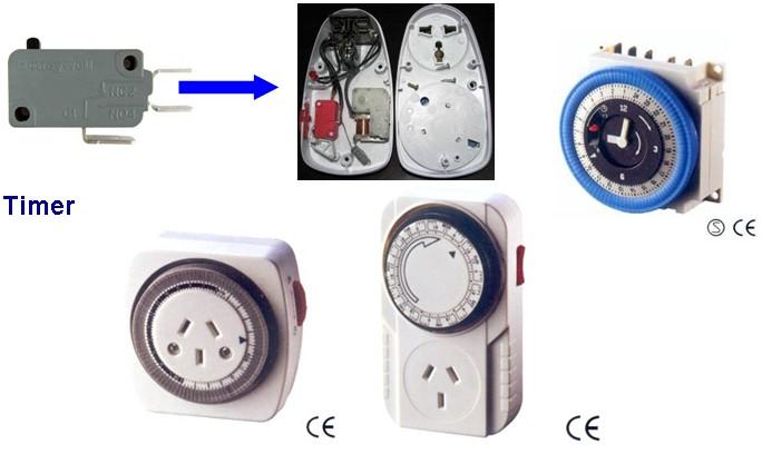 微动开关在定时器/管状电机/洗碗机上的应用