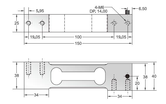 FAS-10kg单点式传感器安装尺寸图