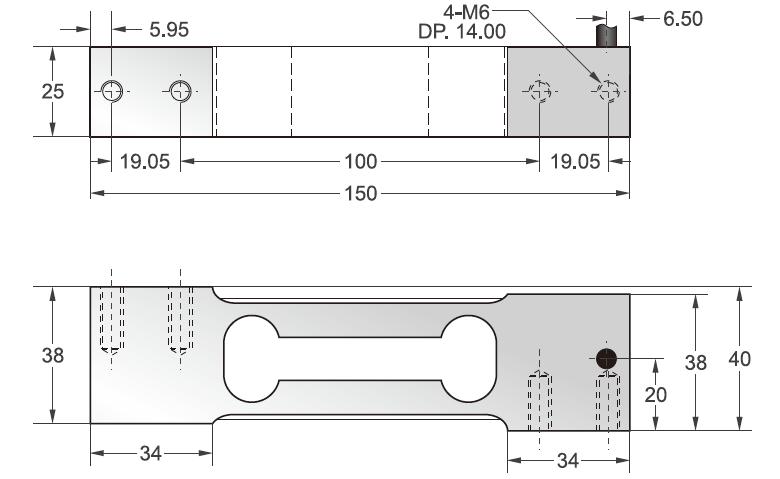 FAK单点式传感器安装尺寸图