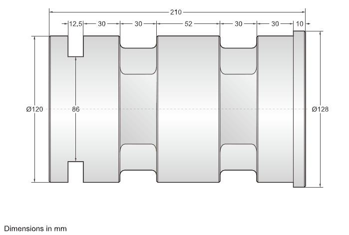 DBST-30t 双剪切梁传感器安装尺寸图: