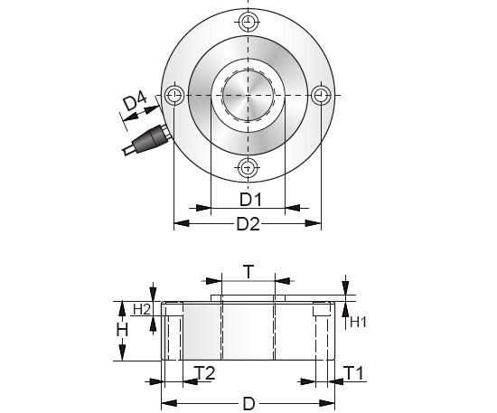 PTSD轮辐式传感器安装尺寸图: