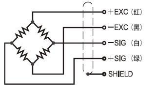 SBSZ悬臂梁传感器-SBSZ-10000kg接线方式接线图