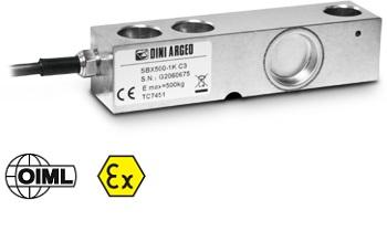 SBX-1K系列剪切梁传感器,重量从500千克到2000千克