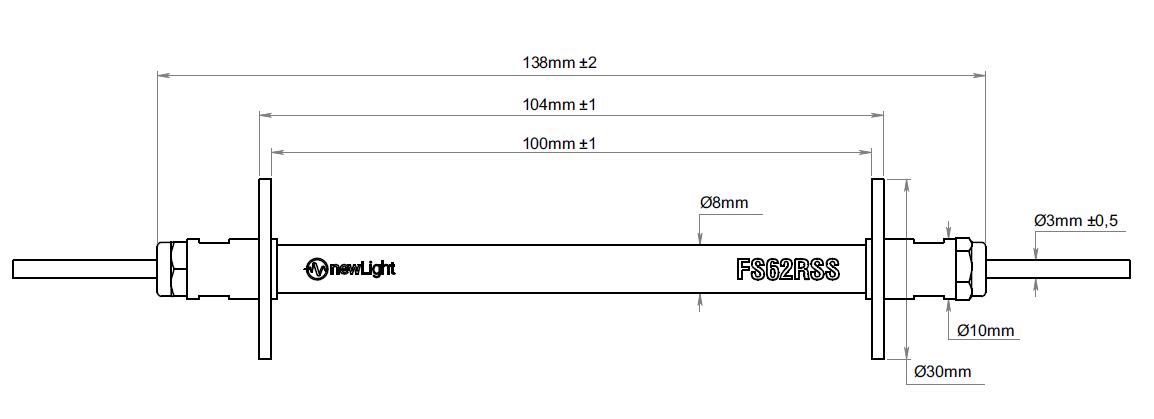 FS62RSS应变传感器外观尺寸图