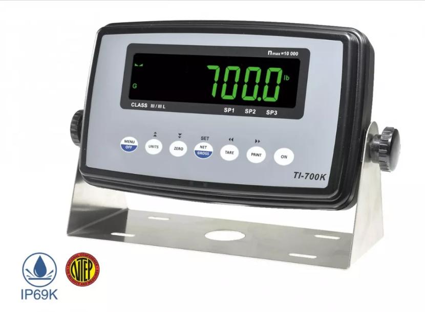 TI-700K称重防水仪表 全新NTEP认证-传力
