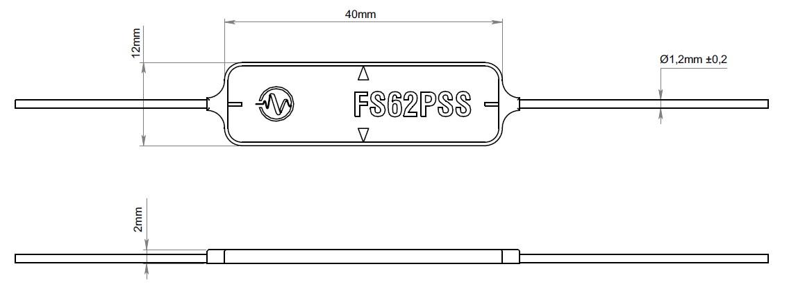 FS62PSS贴片应变传感器外观安装尺寸图
