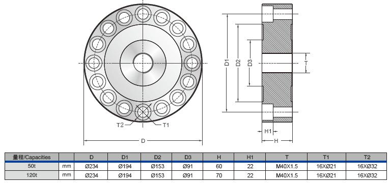 DBSL-TJ (1t-2t)轮辐式称重传感器