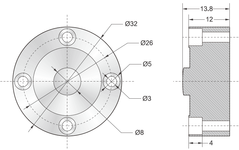 DBSLS-3T轮辐式称重传感器外观尺寸图