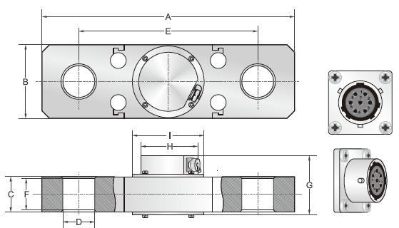 BH(40-160t) S型传感器安装尺寸图