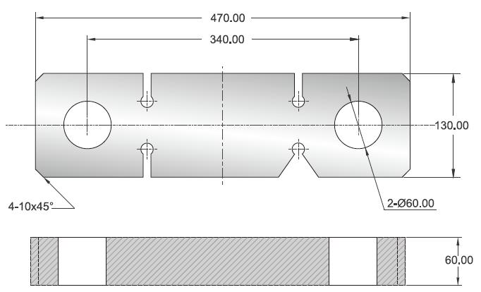 BH-30T称重传感器外观安装尺寸图
