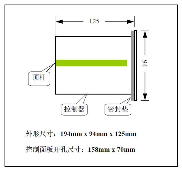B520称重显示控制器尺寸图