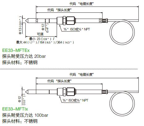 EE33-MFTEx 探头耐受压力达