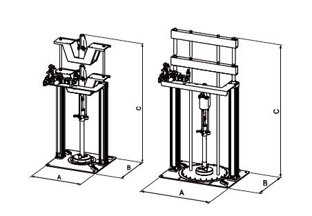 润滑油供料泵_气动柱塞泵外观尺寸图
