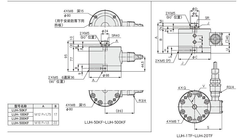LUH-F载荷称重传感器,高精度,拉伸,压缩两用传感器