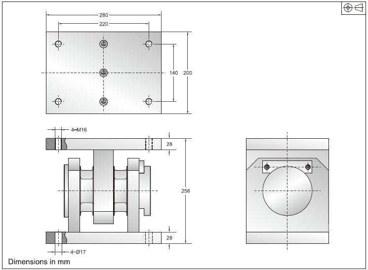 DBST-30称重模块外观安装尺寸图