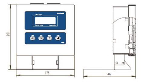 T821工业显示终端 产品尺寸Dimensions