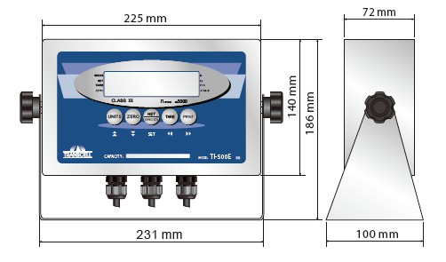 TI-500ESS控制仪表_外观安装尺寸图