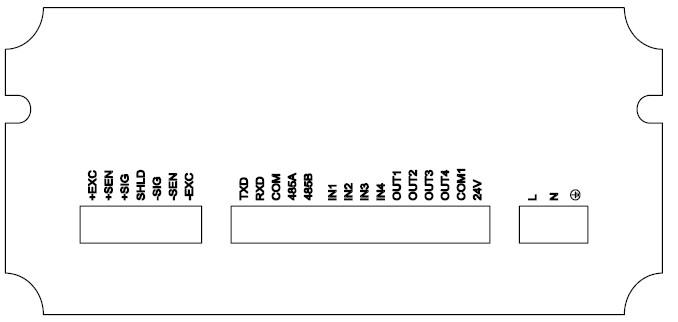 后面板接线示意图(基本型)