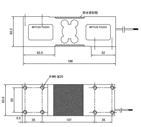 Mettler-Toledo梅特勒-托利多MT1260外观安装尺寸图