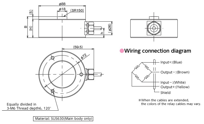 VLC-H400系列称重传感器-日本沃康