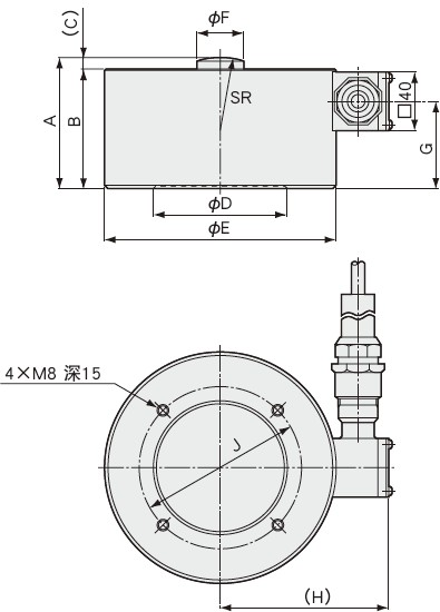 LCH-10TF载荷传感器,LCH-20TF称重传感器