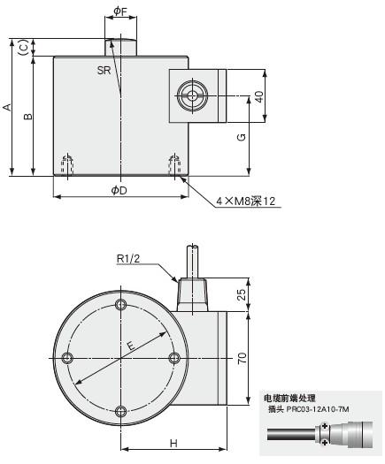 LC-J载荷称重传感器 耐腐蚀型 5~200kN