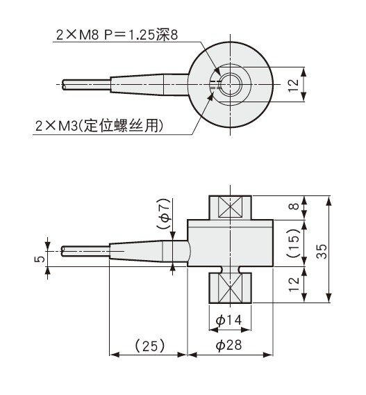 LUR-A-SA1称重传感器外形尺寸图