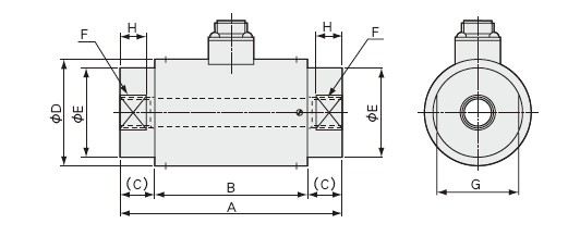 LUR-B-SA1载荷称重传感器 外形尺寸安装图