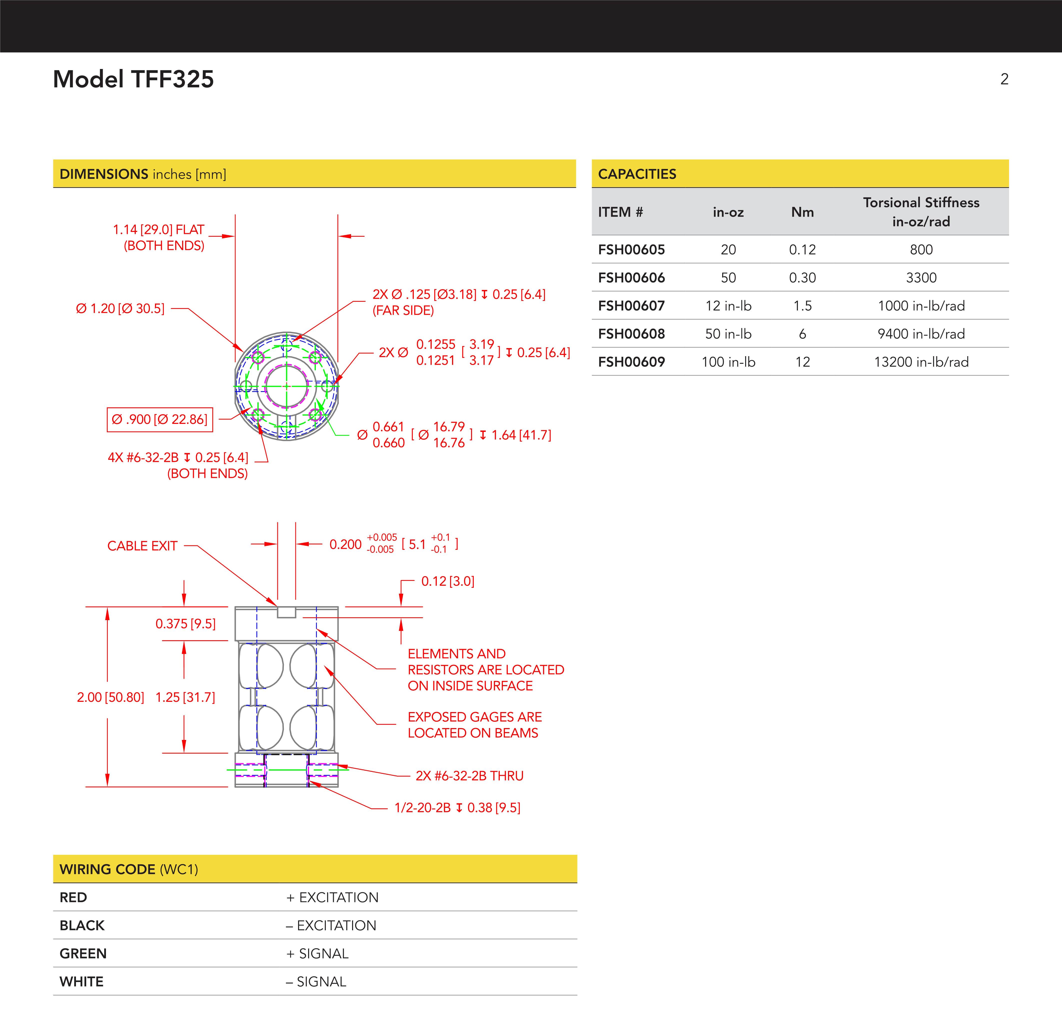 TFF325法兰式静态扭矩传感器介绍英文
