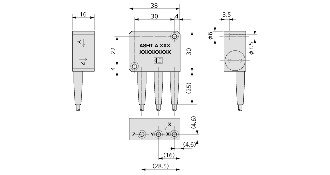 ASHT-A 3轴型加速度传感器