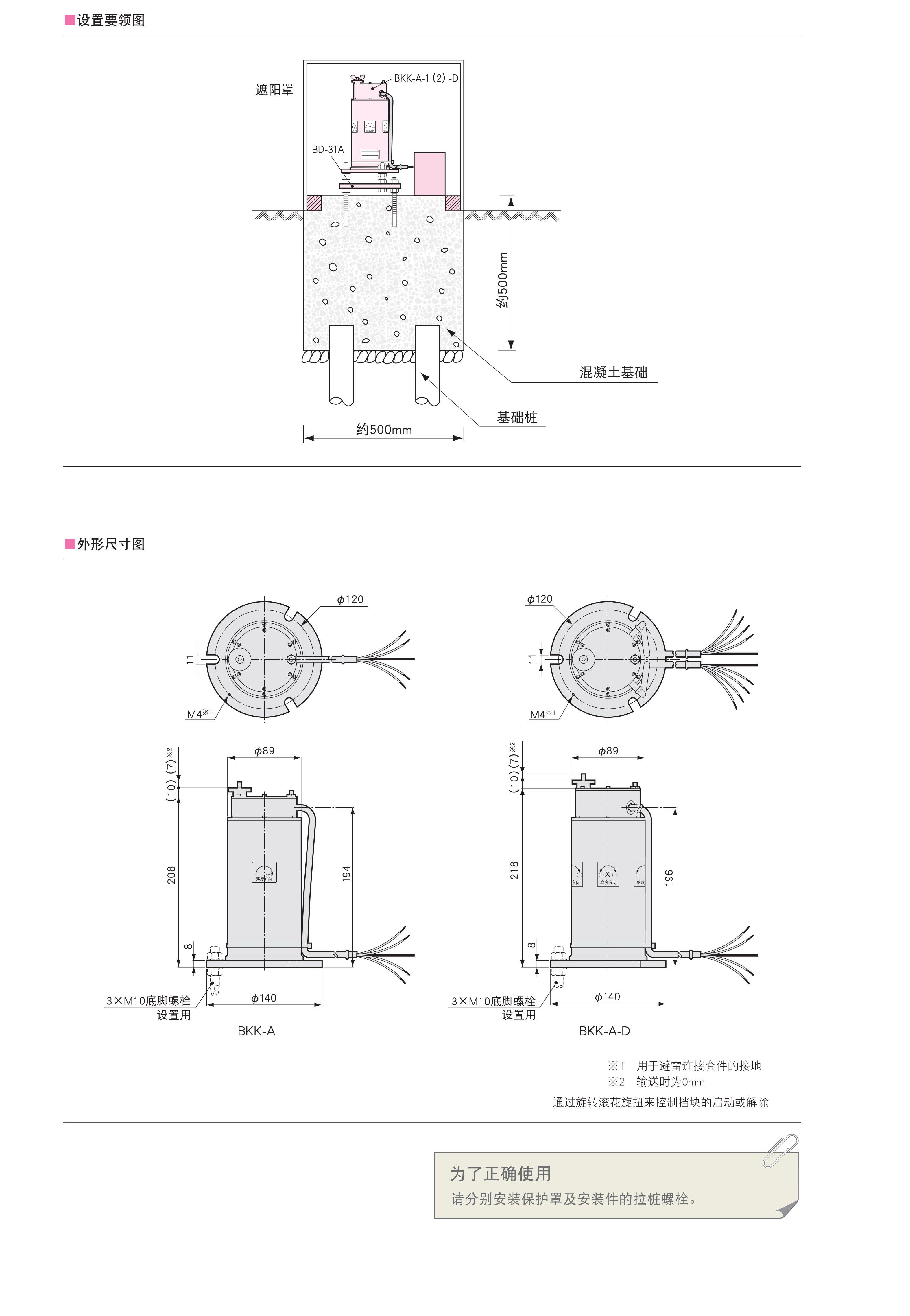 BKK-A安装型倾斜仪_BKK-A-D设置式倾斜计_日本kyowa